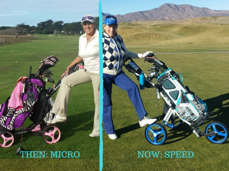 Image of Sun Mountain golf push carts for women