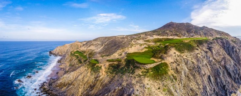 Aerial image of Quivira fifth hole