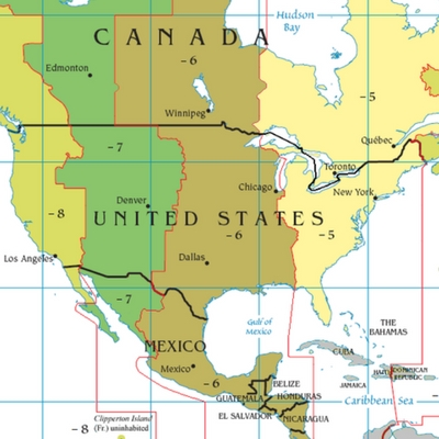 Image of North American time lines