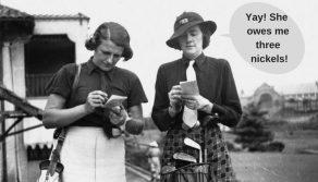 Image of ladies adding scores