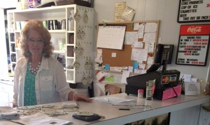 Image of Linda behind counter