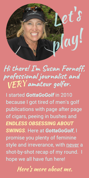 Image and bio of GottaGoGolf blogger Susan Fornoff