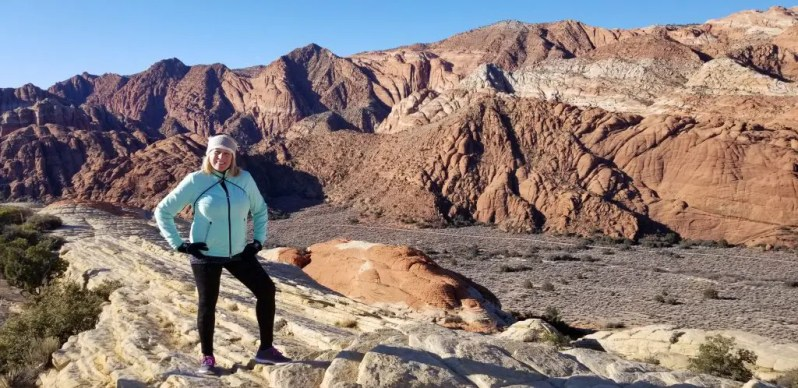 Image of the author on a Red Mountain Resort hike