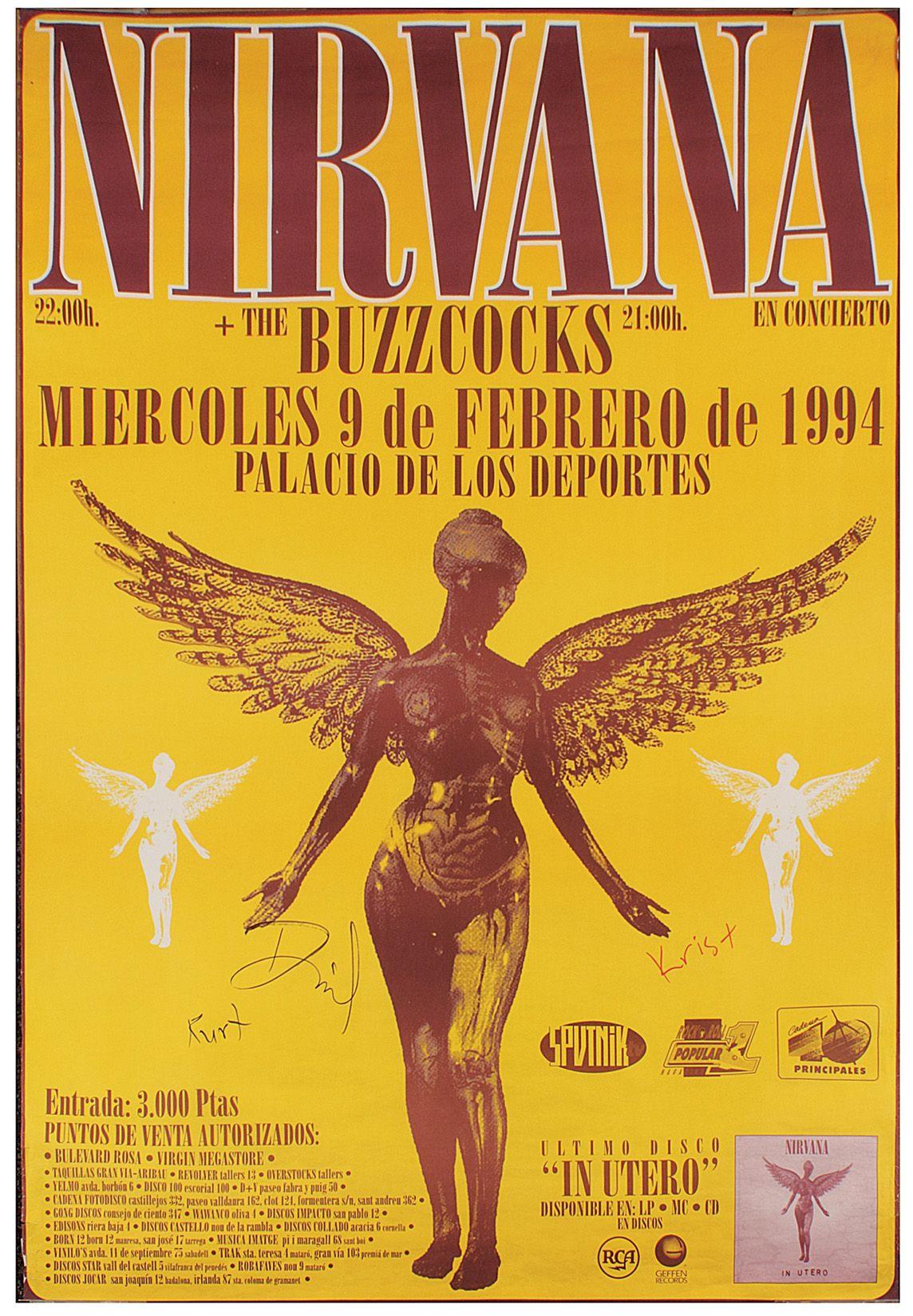 nirvana signed original oversized