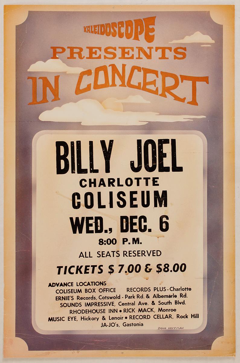billy joel original 1978 cardboard