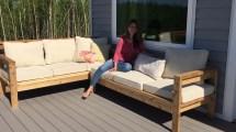 Build Cozy 2x4 Sectional Sofa Outdoor Patio