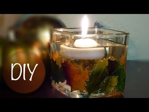 learn how to make these beautiful diy fall candle holders video