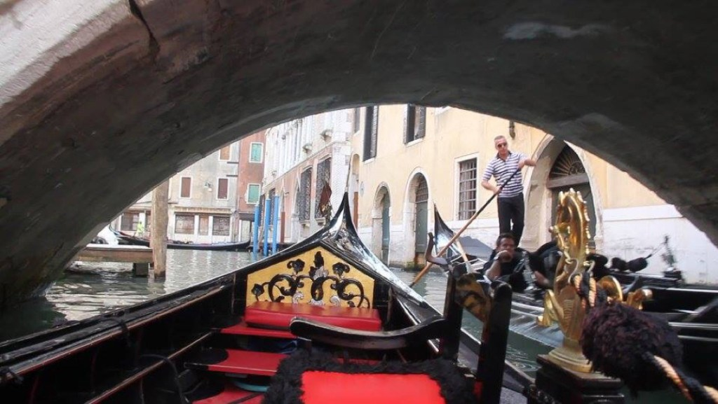 Gondola ride on Venice's canals