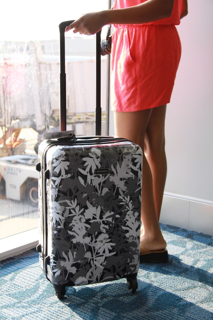 My Tropical Escape With Vera Bradley s Hardside Spinner Luggage ... 4d0ca730e7841