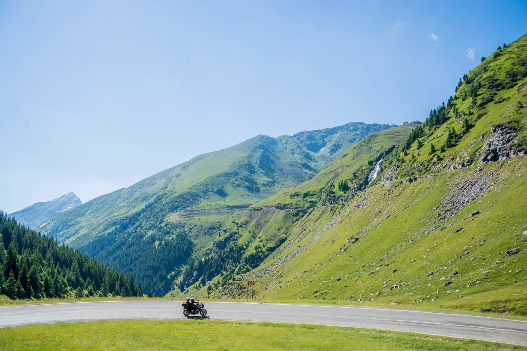 Motorcyle ride in the mountains