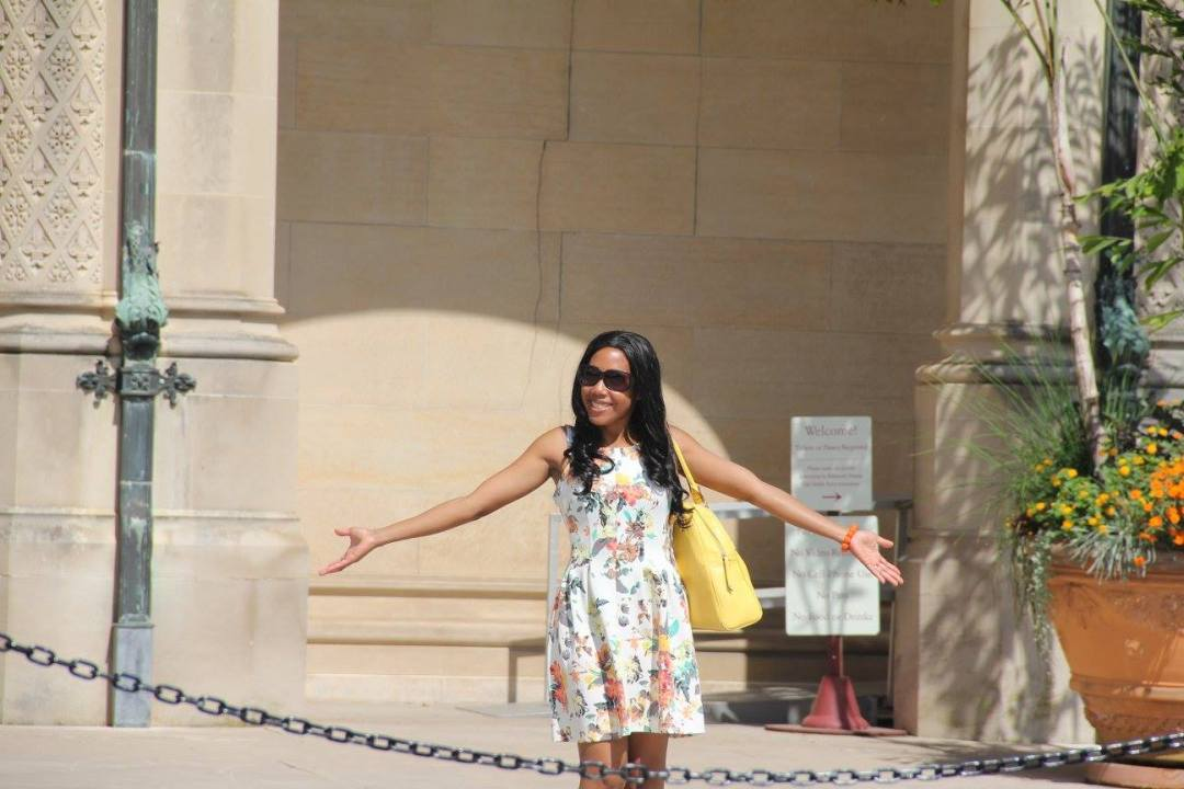 Standing at the entrance of Biltmore