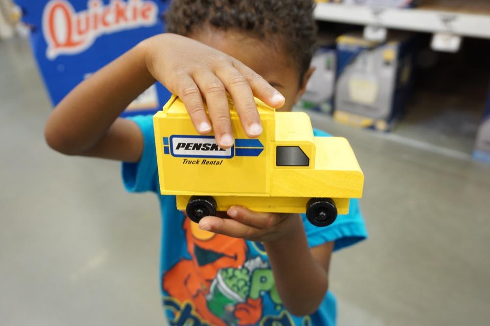 Holding Penske Truck