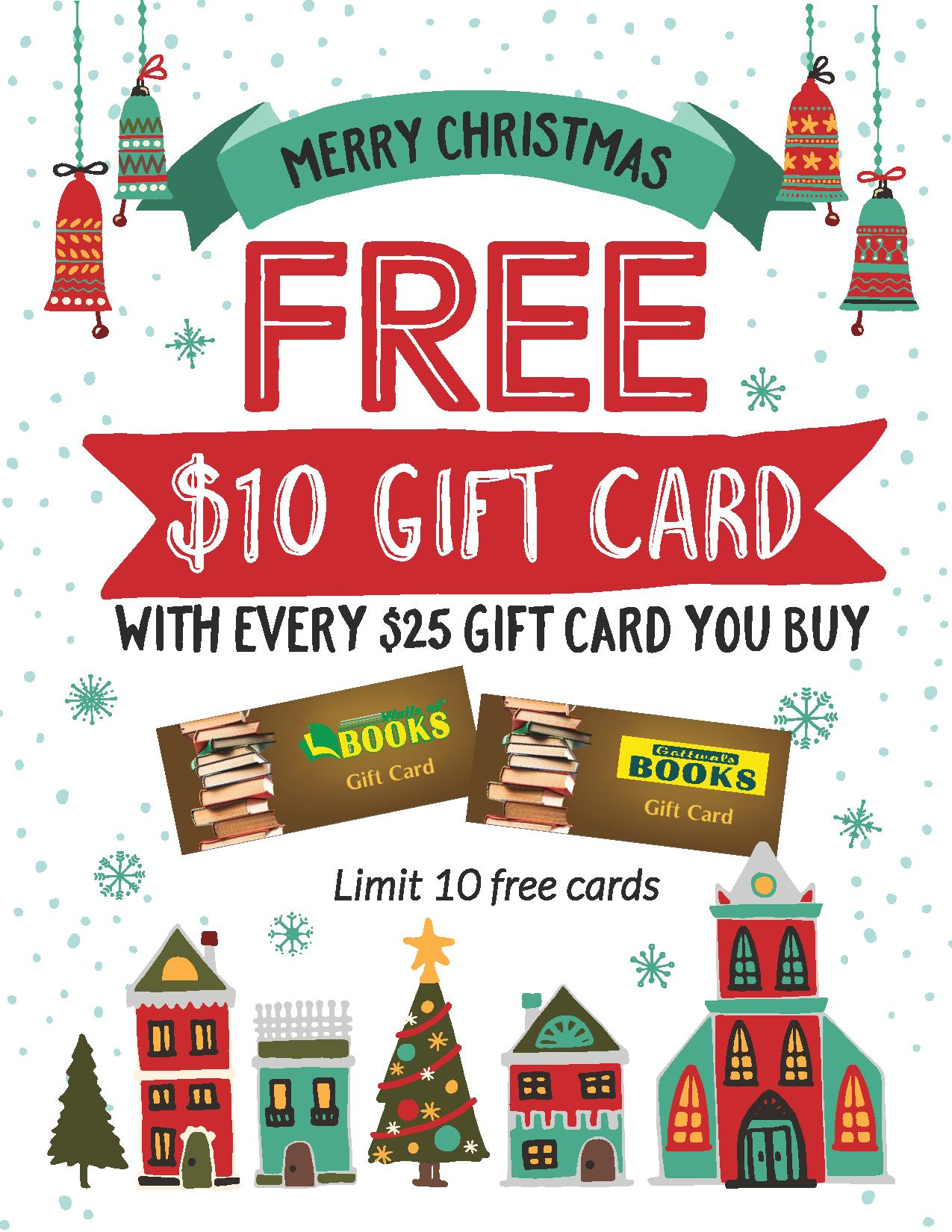 FREE 10 Gift Card Cool Gifts Sulli Giles Gottwals Books