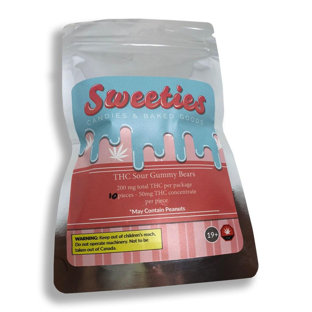 sweeties 200mg thc sour gummy bears