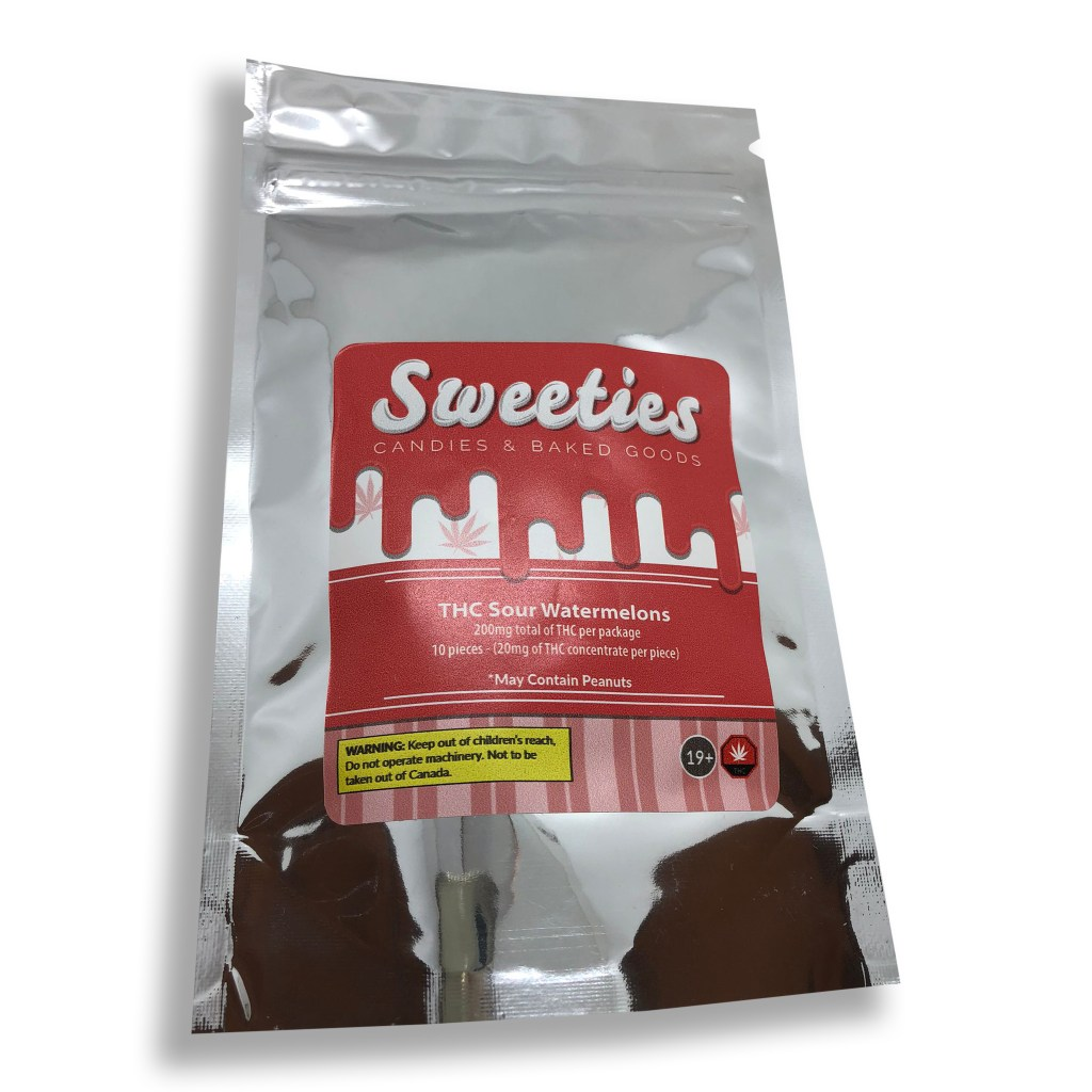 Sweeties 200mg thc sour watermelons