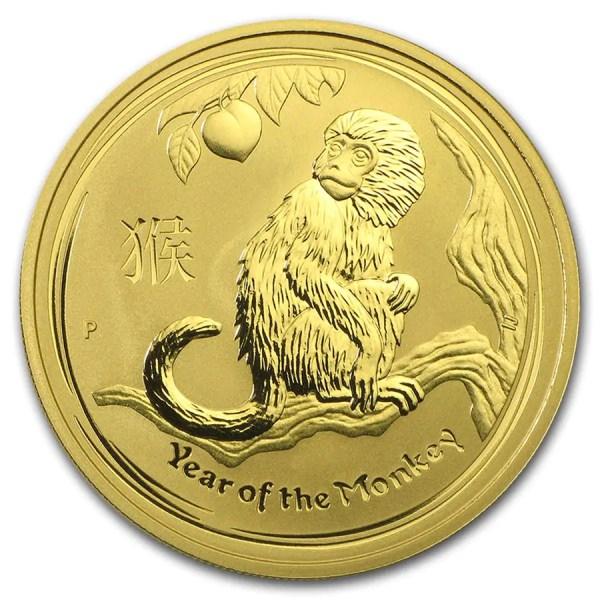 Lunar Aap 1 troy ounce gouden munt 2016