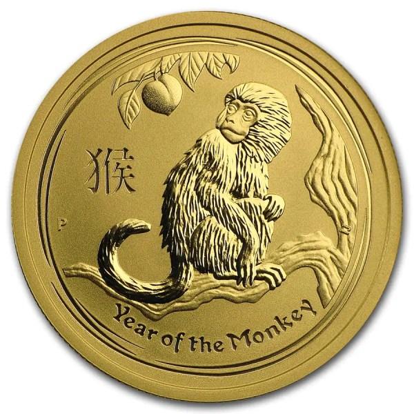 Lunar Aap 1/2 troy ounce gouden munt 2016