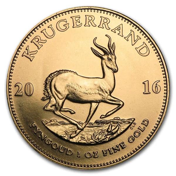 Krugerrand 1 troy ounce gouden munt diverse jaartallen