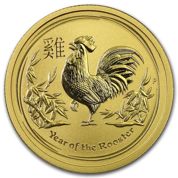 Lunar Haan 1/4 troy ounce gouden munt 2017