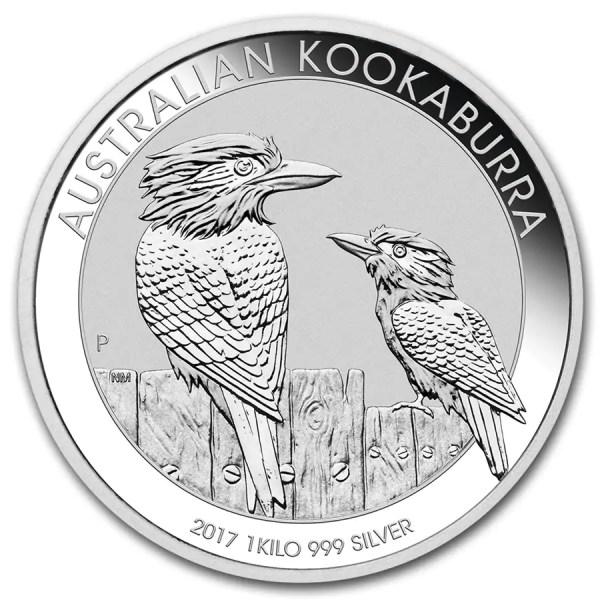 Kookaburra 1 kilo ounce zilveren munt 2017