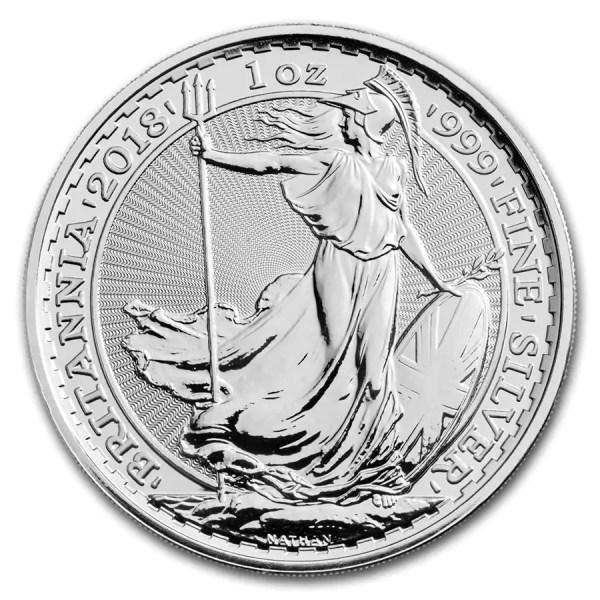 Britannia 1 troy ounce zilveren munt 2018