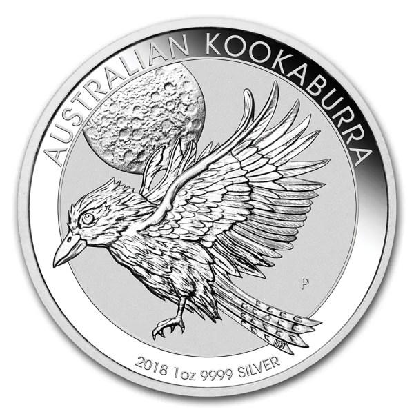 Kookaburra 1 troy ounce zilveren munt 2018