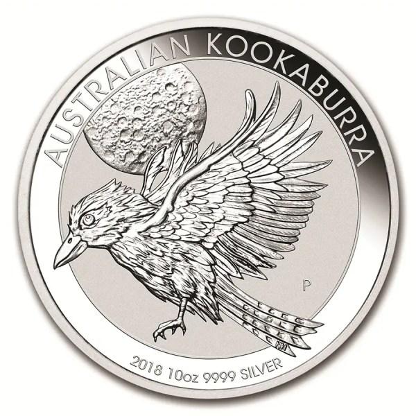 Kookaburra 10 troy ounce zilveren munt 2018