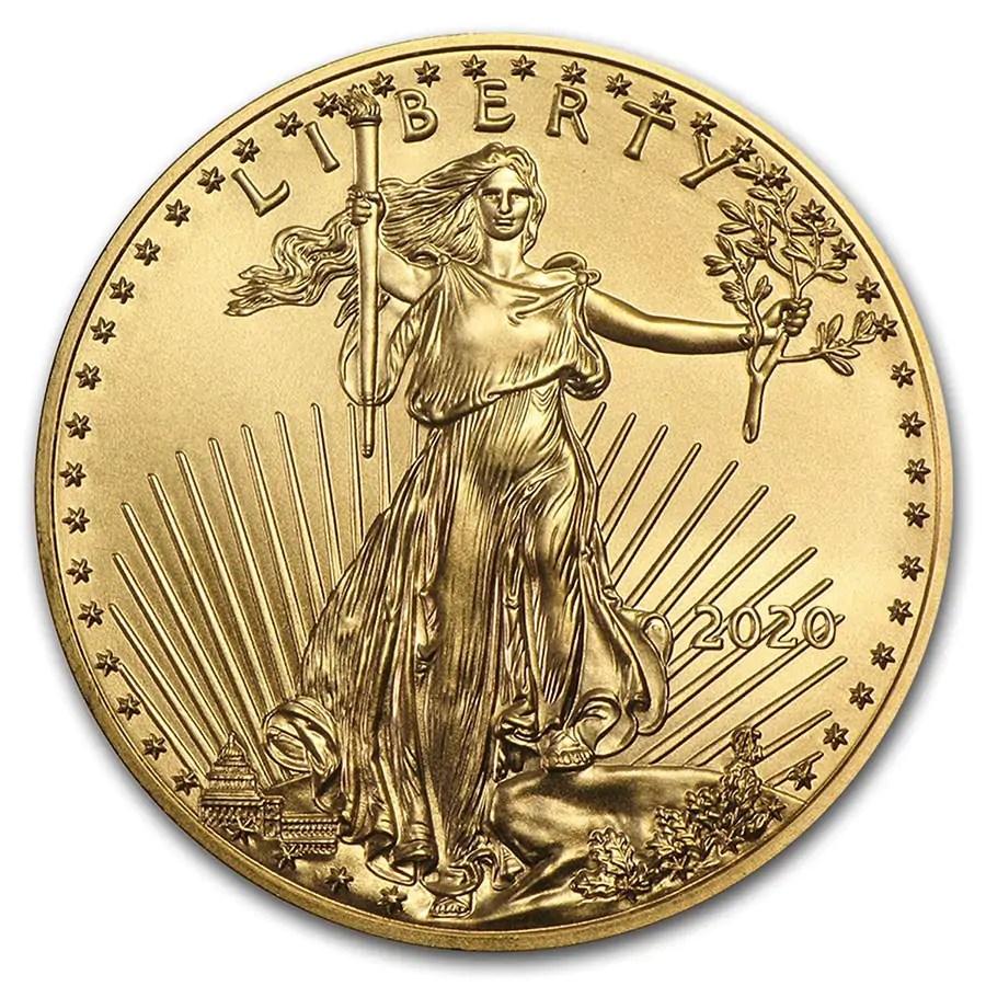 American Eagle 1 troy ounce gouden munt 2020