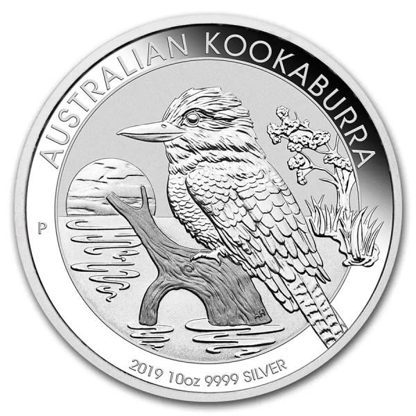 Kookaburra 10 troy ounce zilveren munt 2019
