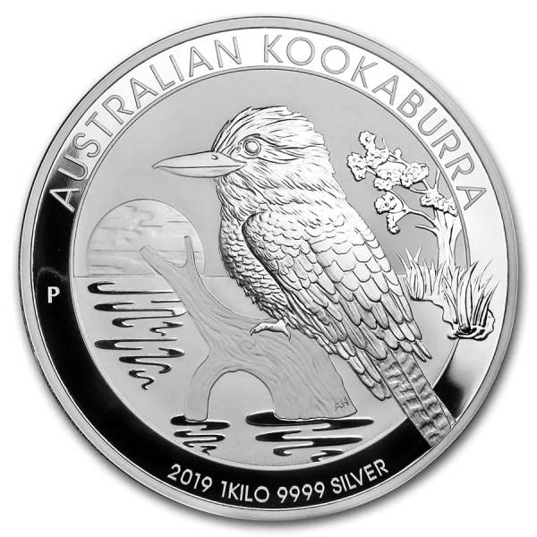 Kookaburra 1 kilozilveren munt 2019