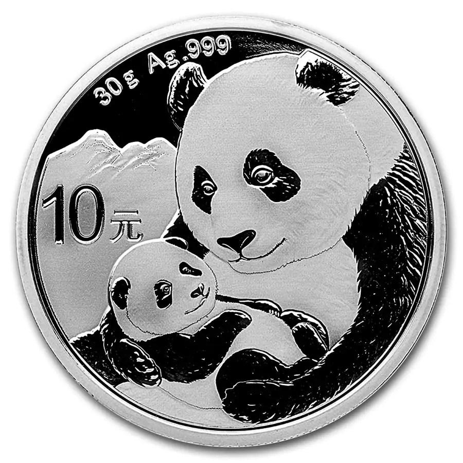 Panda 30 gram zilveren munt 2019