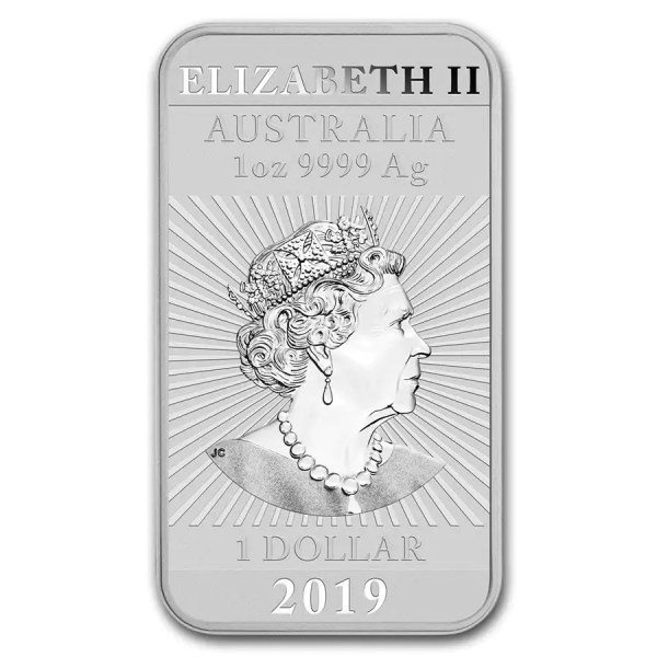Rectangular zilveren munt 2019