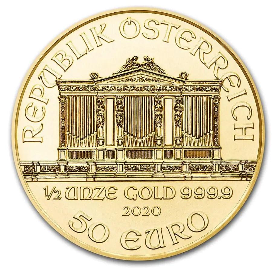 Philharmoniker 1/2 troy ounce gouden munt 2020