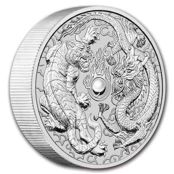 Dragon & Tiger 10 troy ounce zilveren munt 2020