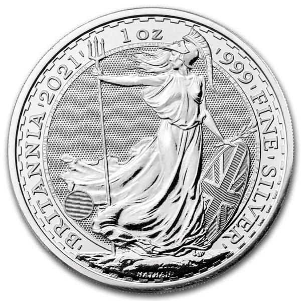 Britannia 1 troy ounce zilveren munt 2021