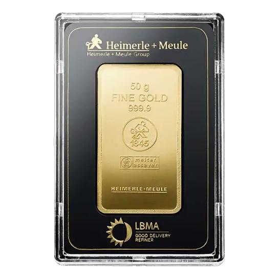 Heimerle + Meule 50 gram goudbaar