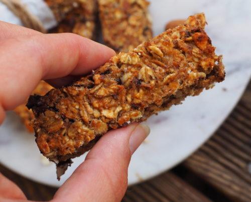 barres céréales banane chocolat vegan