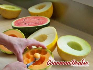 Salade Jar melon pastèque