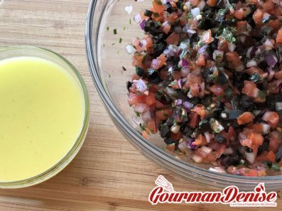 sauce vierge olives noires