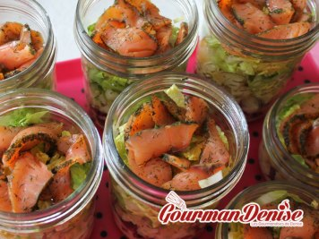 salade jar saumon