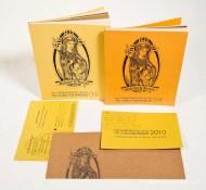 Envelopes were hand-stamped