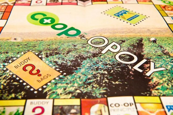 "image of ""Coop-opoly"" board"