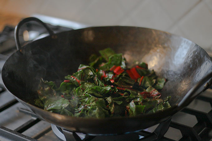 Wok With Red Chard