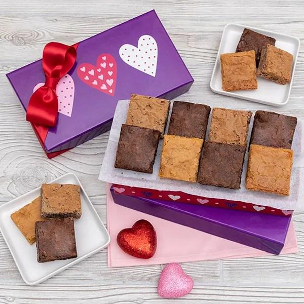 Valentine39s Day Brownie Gift Box by GourmetGiftBasketscom