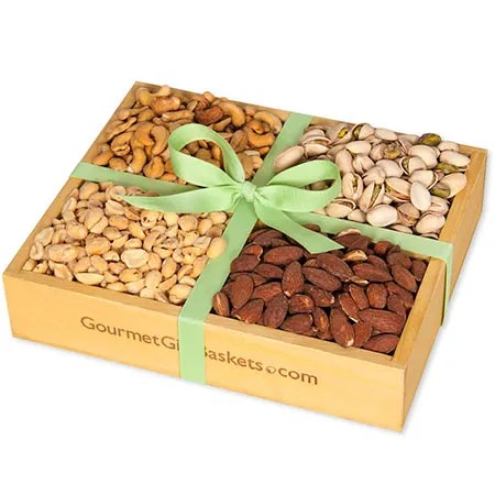 Roasted Nuts Gift Crate by GourmetGiftBasketscom