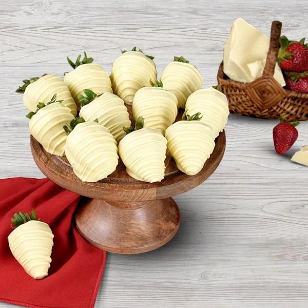 White Chocolate Covered Strawberries By Gourmetgiftbaskets Com