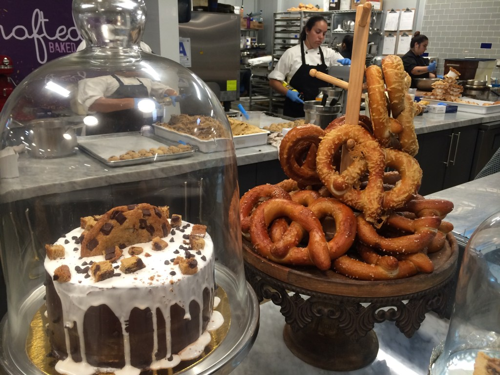 Soft pretzels and cake - what a combo!