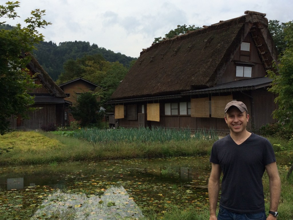 Thatched roof village along the way to Kanazawa - easy side trip