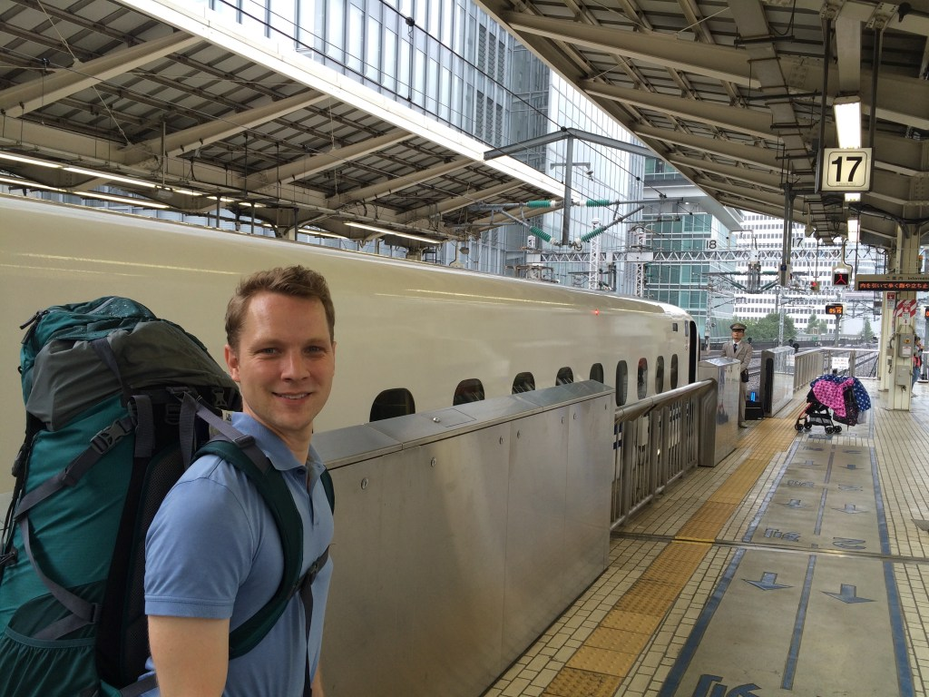 Ready for our 5 hour bullet train out of Tokyo
