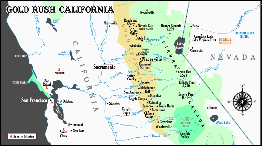 Weekend in California Gold Country: Best 2 Day Itinerary ... on buffalo california map, morgantown california map, highway 49 california map, old california gold mine map, mormon bar california map, gold butte county california, sierra nevada river on the map, boise california map, miwok california map, san francisco bay california map, gold deposits map minnesota, janesville california map, gold found in california map, el dorado county california map, las cruces california map, greater los angeles california map, amarillo california map, gold run california map, coloma california map, napa california map,